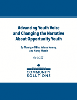 cover of Advancing Youth Voice report