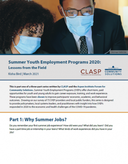 SYEP report cover